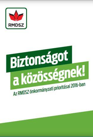 Választási program RMDSZ - 2016