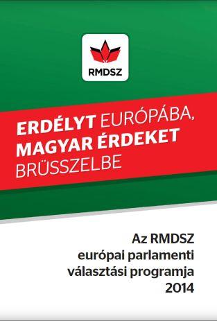 Az RMDSZ európai parlamenti választási programja
