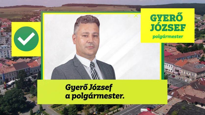 Ma győztek a kovásznaiak, győzött Kovászna! Gyerő József a polgármester.