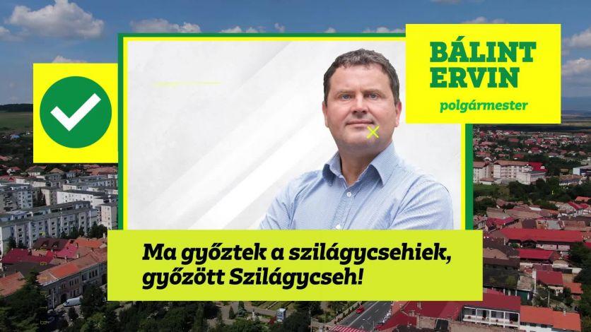 Ma győztek a szilágycsehiek, győzött Szilágycseh! Bálint Ervin az új polgármester.