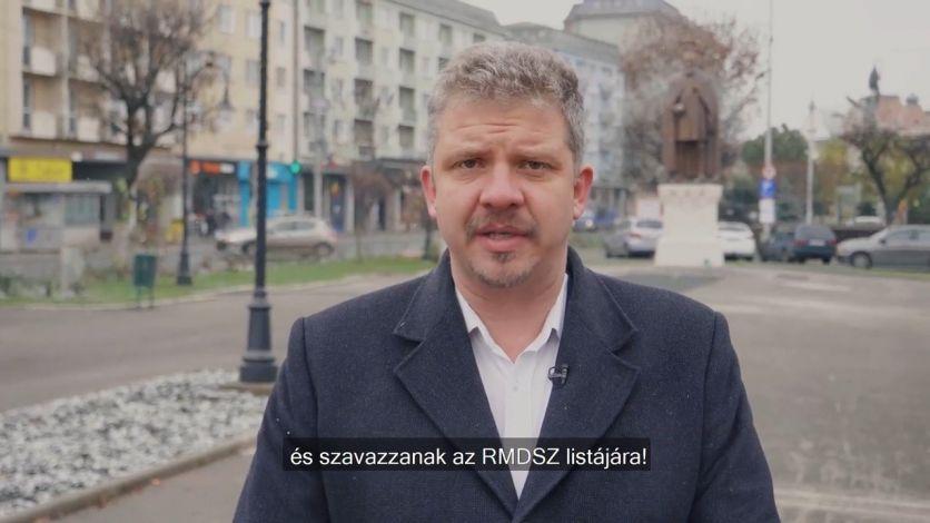 Soós Zoltán: Kérem Önöket, hogy most vasárnap menjenek el szavazni, és támogassák az RMDSZ listáját! Csak akkor tudjuk sikerre vinni a terveinket, ha erős magyar parlamenti képvi