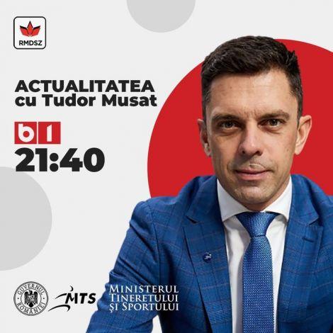 """Eduard Novak ma este 21:40-kor a B1 TV """"Actualitatea cu Tudor Mușat"""" műsor vendége lesz, Téma: hogyan oldják meg a nézők visszatérését a sporteseményekre."""