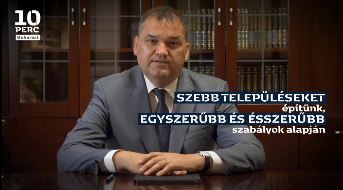 Cseke Attila nyilatkozata az új településtervezési, településrendészeti és építkezési törvénykönyvről