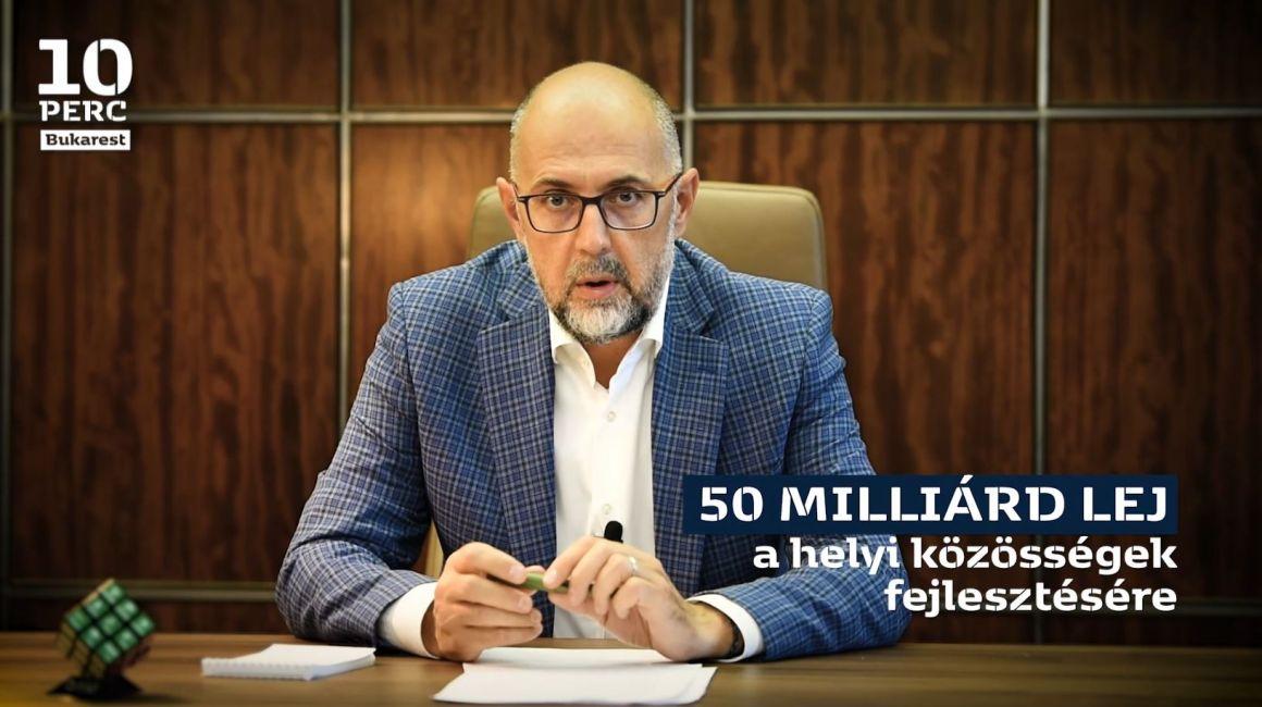 Kelemen Hunor: 50 milliárd lej a helyi közösségek fejlesztésére