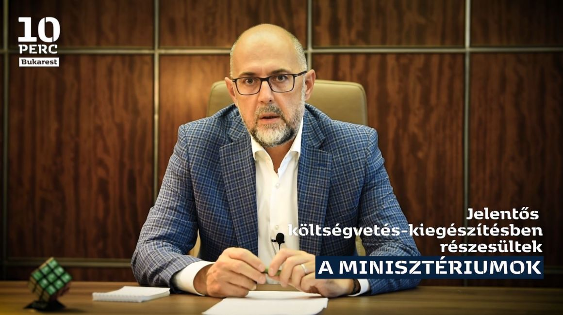 Kelemen Hunor nyilatkozata a minisztériumoknak szánt költségvetés-kiegészítésről