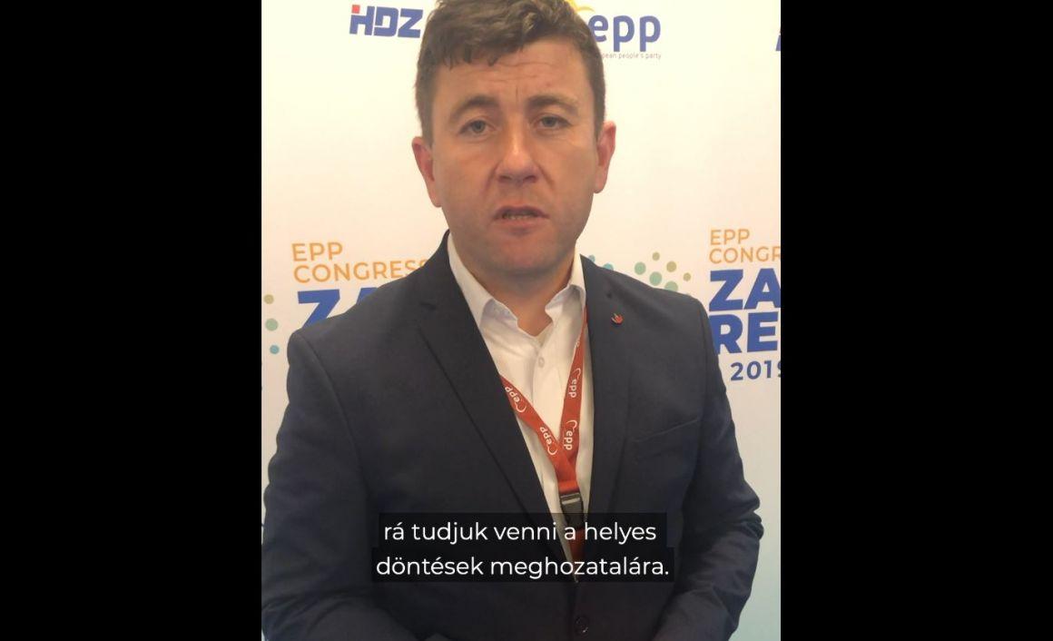 Borboly Csaba az EPP zágrábi kongresszusán