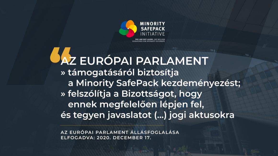 Minority SafePack: az Európai Parlament jogalkotásra szólítja fel az Európai Bizottságot