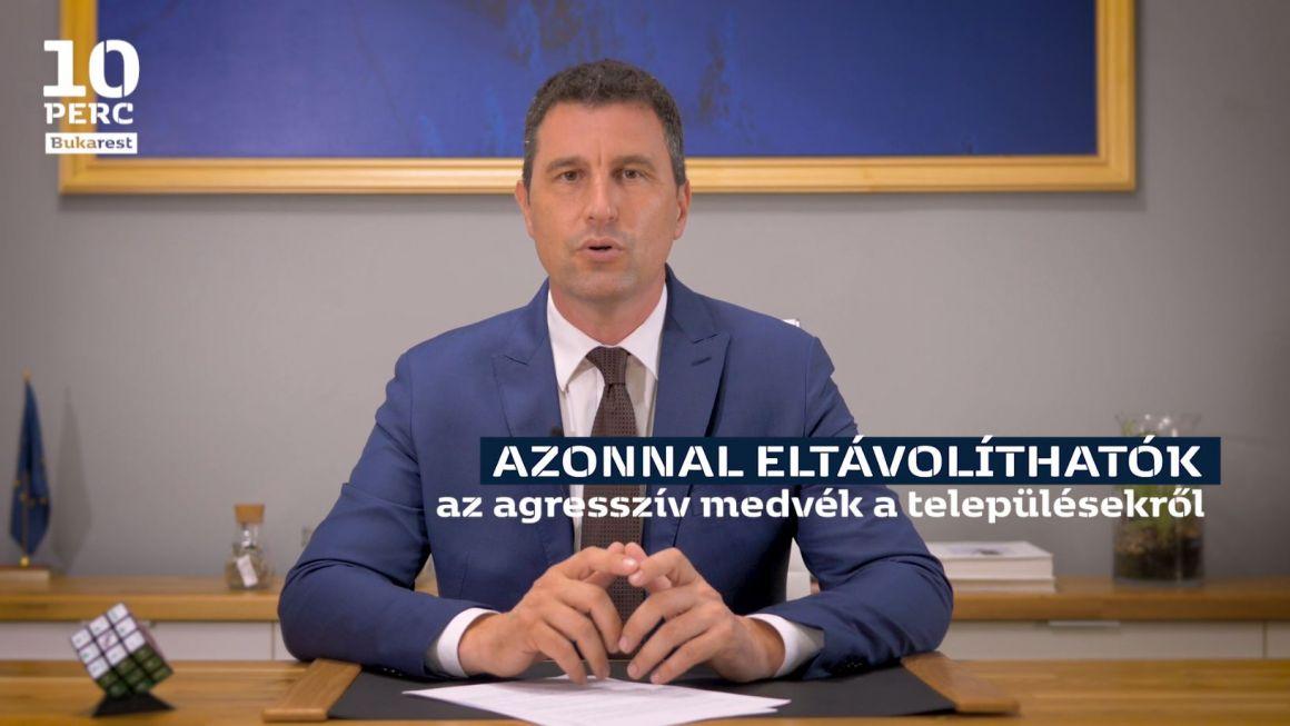 Tánczos Barna a 10 perc Bukarestben: uniós forrásokból mérjük fel a romániai medveállományt, hulladékkollektorokat helyezünk a folyóvizeinkre, építőfával támogatjuk az árvízkárosultakat