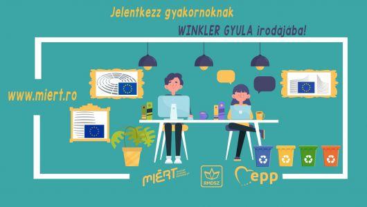 A fenntartható fejlődésre és környezetvédelemre fektet hangsúlyt Winkler Gyula EP-képviselő gyakornoki programja