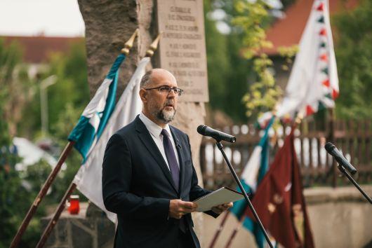 Kelemen Hunor beszéde a nemzeti összetartozás napján, Csíksomlyón, a Székely Hadosztály-emlékműnél