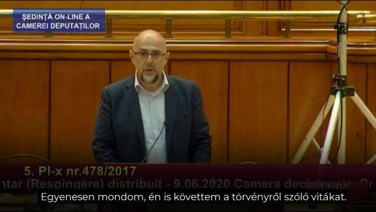 Kelemen Hunor beszéde a március 15-i törvénytervezet vitáján