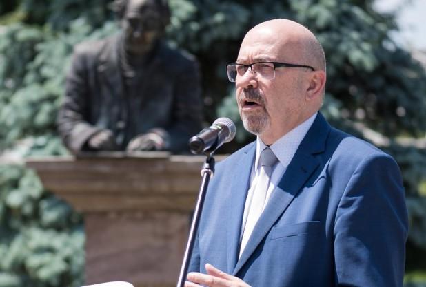 Markó Béla beszéde Zágonban, Domokos Géza szobránál